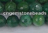 CCJ414 15.5 inches 12mm faceted round west African jade beads