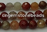 CCJ460 15.5 inches 4mm faceted round colorful jasper beads
