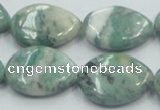 CCJ52 15.5 inches 18*25mm flat teardrop African jade gemstone beads