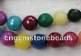 CCN1003 15.5 inches 8mm faceted round multi colored candy jade beads