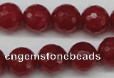 CCN1246 15.5 inches 14mm faceted round candy jade beads wholesale