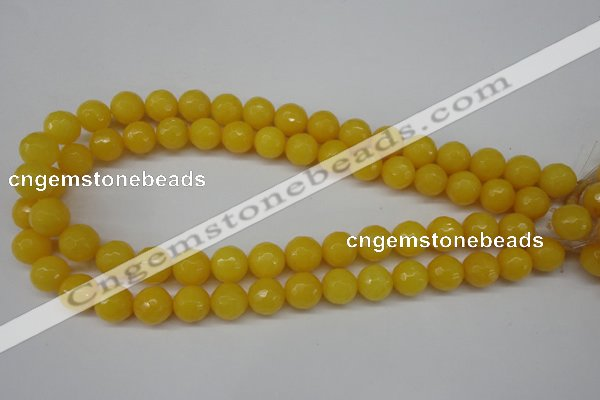 CCN1275 15.5 inches 12mm faceted round candy jade beads wholesale