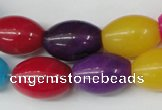 CCN128 15.5 inches 13*18mm rice candy jade beads wholesale