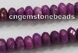 CCN1374 15.5 inches 6*10mm faceted rondelle candy jade beads