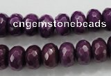 CCN1375 15.5 inches 8*12mm faceted rondelle candy jade beads
