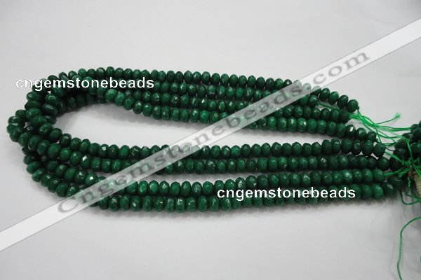 CCN1596 15.5 inches 5*8mm faceted rondelle candy jade beads