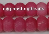 CCN164 15.5 inches 12*16mm faceted rondelle candy jade beads