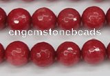 CCN1844 15 inches 12mm faceted round candy jade beads wholesale