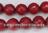 CCN1845 15 inches 14mm faceted round candy jade beads wholesale