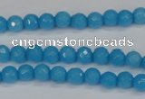 CCN1870 15 inches 4mm faceted round candy jade beads wholesale