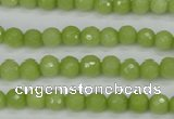 CCN1900 15 inches 4mm faceted round candy jade beads wholesale