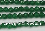 CCN1971 15 inches 6mm faceted round candy jade beads wholesale