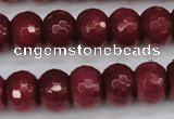 CCN1993 15 inches 10*14mm faceted rondelle candy jade beads wholesale