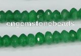 CCN1997 15 inches 5*8mm faceted rondelle candy jade beads wholesale