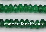 CCN1998 15 inches 6*10mm faceted rondelle candy jade beads wholesale