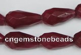 CCN203 15.5 inches 12*22mm faceted teardrop candy jade beads