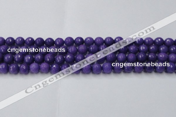 CCN2061 15 inches 12mm faceted round candy jade beads wholesale