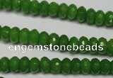 CCN2106 15.5 inches 4*6mm faceted rondelle candy jade beads