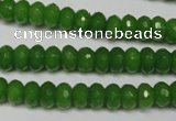 CCN2107 15.5 inches 5*8mm faceted rondelle candy jade beads