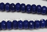 CCN2120 15.5 inches 6*10mm faceted rondelle candy jade beads