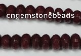 CCN2134 15.5 inches 6*10mm faceted rondelle candy jade beads