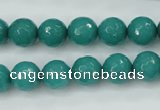 CCN2281 15.5 inches 10mm faceted round candy jade beads wholesale