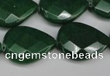 CCN2332 15.5 inches 18*25mm faceted flat teardrop candy jade beads