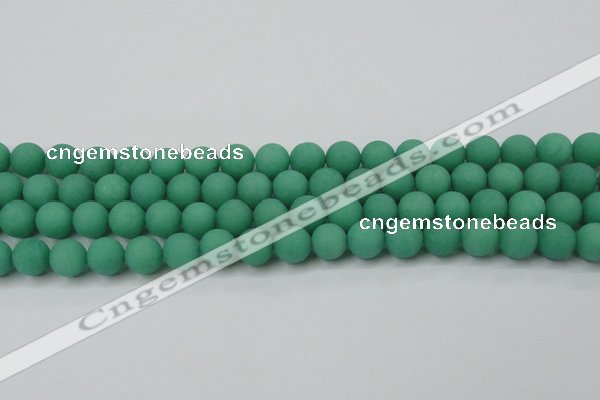 CCN2490 15.5 inches 12mm round matte candy jade beads wholesale
