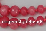 CCN2647 15.5 inches 5*8mm - 12*16mm faceted rondelle candy jade beads