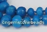 CCN2652 15.5 inches 5*8mm - 12*16mm faceted rondelle candy jade beads