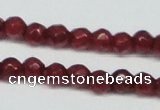 CCN2813 15.5 inches 3mm tiny faceted round candy jade beads
