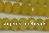 CCN2873 15.5 inches 5*8mm faceted rondelle candy jade beads
