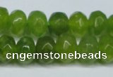CCN2874 15.5 inches 5*8mm faceted rondelle candy jade beads