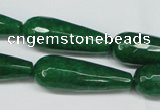 CCN2888 15.5 inches 10*30mm faceted teardrop candy jade beads