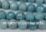 CCN2933 15.5 inches 10mm faceted round candy jade beads