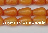 CCN3750 15.5 inches 8*12mm teardrop candy jade beads wholesale