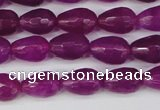 CCN3779 15.5 inches 8*12mm faceted teardrop candy jade beads