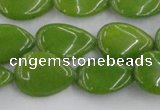 CCN3868 15.5 inches 13*18mm flat teardrop candy jade beads