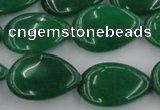 CCN3884 15.5 inches 15*20mm flat teardrop candy jade beads