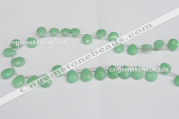 CCN3935 Top-drilled 12*15mm briolette candy jade beads wholesale