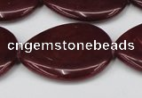 CCN3975 15.5 inches 30*40mm flat teardrop candy jade beads