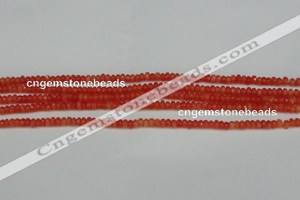 CCN4101 15.5 inches 2*4mm faceted rondelle candy jade beads