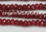 CCN4127 15.5 inches 4*6mm faceted rondelle candy jade beads