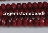 CCN4160 15.5 inches 5*8mm faceted rondelle candy jade beads