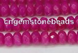 CCN4161 15.5 inches 5*8mm faceted rondelle candy jade beads