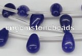 CCN455 15.5 inches Top-drilled 8*12mm teardrop candy jade beads