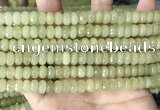 CCN5155 15 inches 5*8mm faceted rondelle candy jade beads