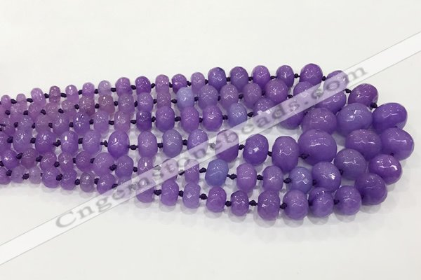 CCN5171 5*8mm - 14*20mm faceted rondelle candy jade graduated beads