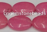 CCN546 15.5 inches 18*25mm oval candy jade beads wholesale