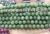 CCN5618 15 inches 8mm round matte candy jade beads Wholesale
